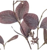Kunsttak Eucalyptus 73 cm paars