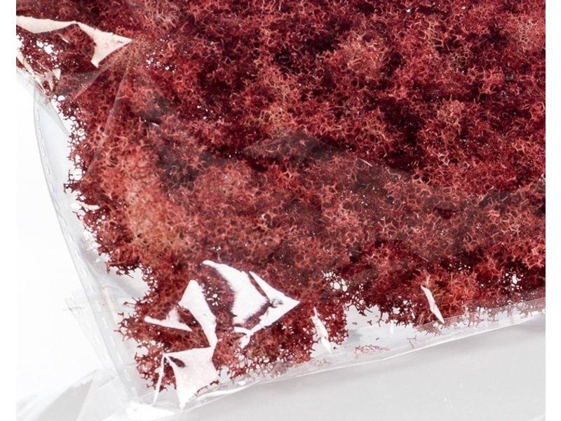 Kunstmos in zakje rood