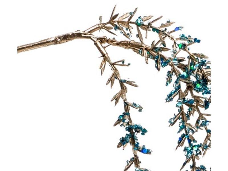 Kunst hangplant Amarant 110 cm blauw