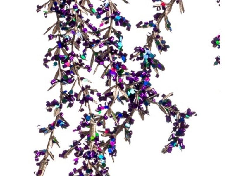 Kunst hangplant Amarant 110 cm paars