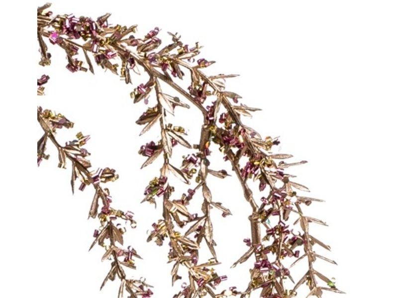 Kunst hangplant Amarant 110 cm roze