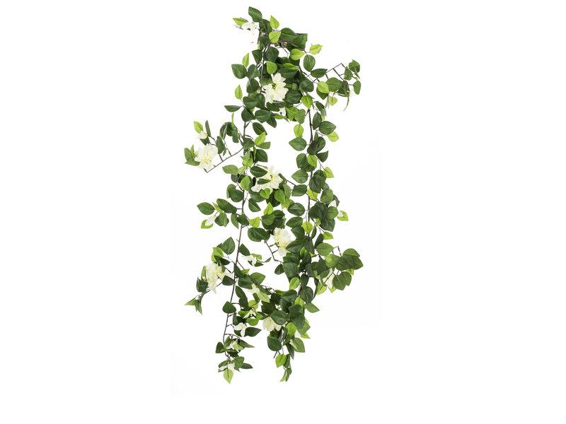 Kunst hangplant slinger Bougainvillea 160 cm wit