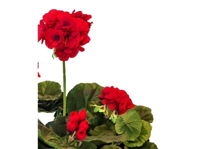Kunstbloem Geranium Rood 40 cm