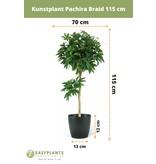 Kunstplant Pachira Braid 115 cm