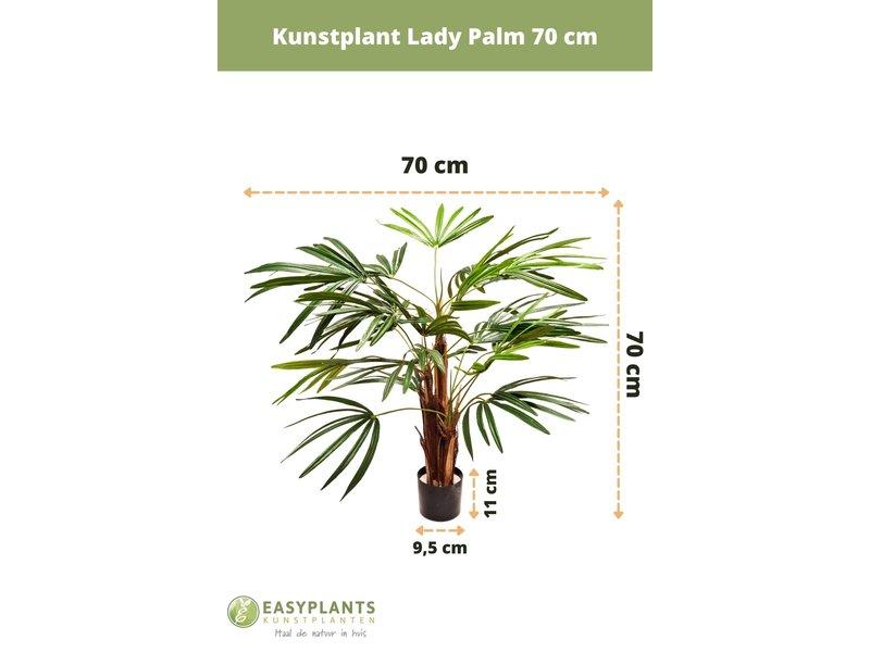 Kunstplant Lady Palm 70 cm