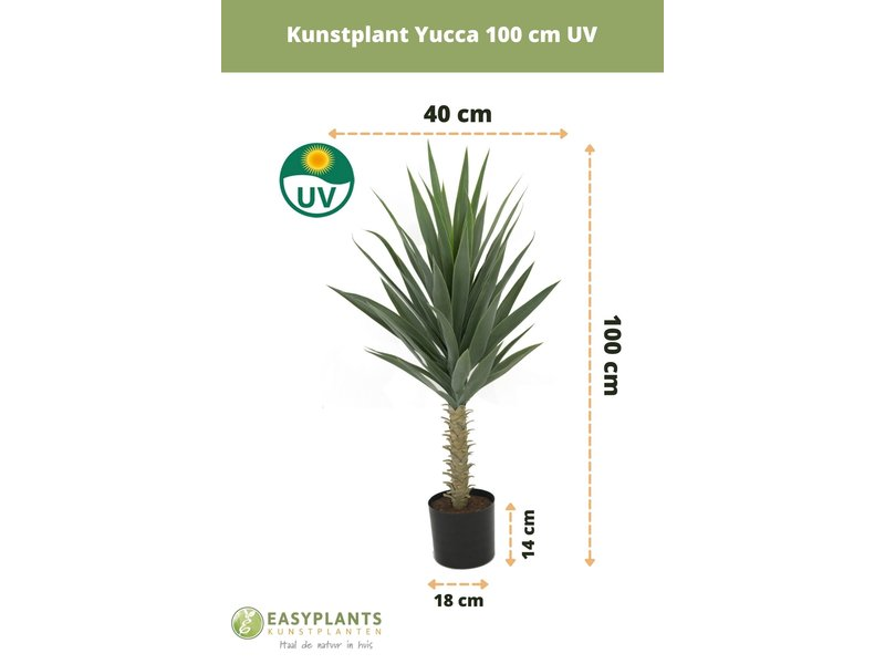 Kunstplant Yucca 100 cm UV