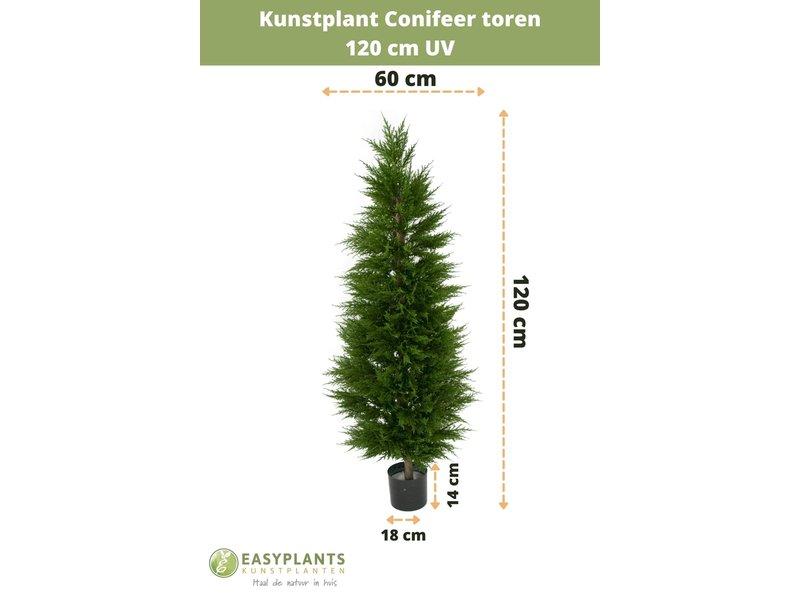 Kunstplant Conifeer toren 120 cm UV