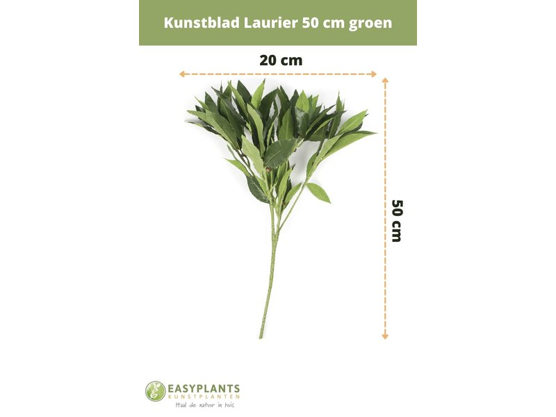 Kunstblad Laurier 50 cm groen