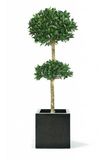 Kunstplant Laurier dubbel bol op stam 210 cm