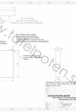 Tafelpoten.shop Stoere industriele strip poten gemaakt uit strip 12x1, los verkrijgbaar