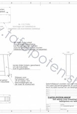 Tafelpoten.shop Schuine stalen salontafel poten ideaal voor het maken van een industriele salontafel, model trapezium