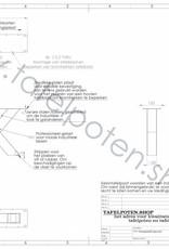 Tafelpoten.shop Stoere industriele salon kruispoten gemaakt uit kokers 8x8 cm, los verkrijgbaar