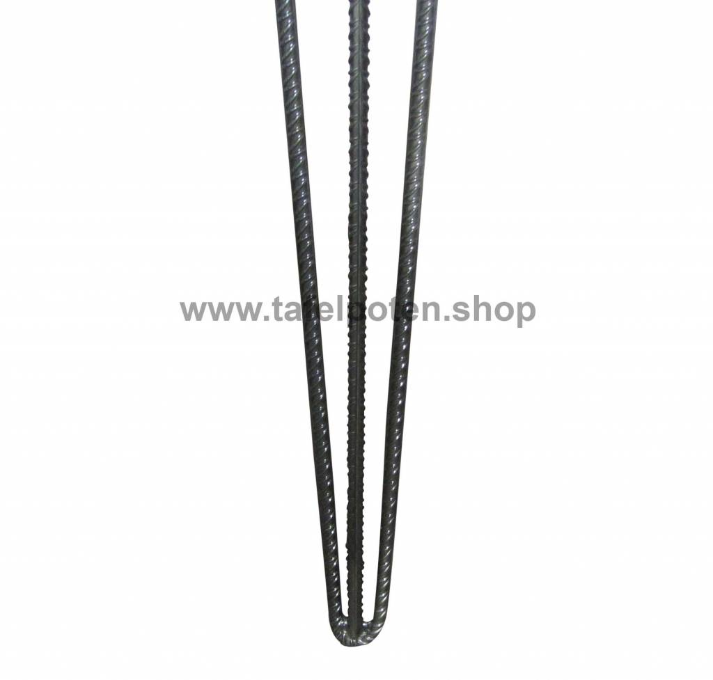 Tafelpoten.shop Losse betonijzer hairpin zwart