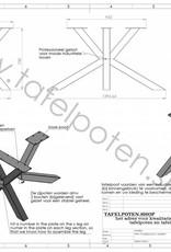 Nordstahl Stalen Matrix 8x8 tafelpoot Nordstahl