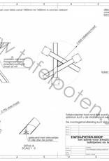 Tafelpoten.shop Industrieel tafelonderstel twist rond 8x8 cm