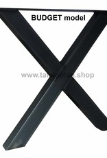 Tafelpoten.shop Onbehandelde X tafelpoot kruispoot
