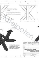 Tafelpoten.shop Industrieel tafelonderstel Matrix tafelpoot