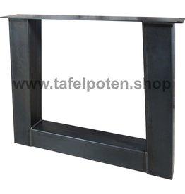 Tafelpoten.shop Industriële trapezium tafelpoten 12x12 cm