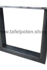 Tafelpoten.shop Stoere robuuste 12x8 cm rechte U tafelpoten, los verkrijgbaar, echt industrieel