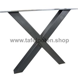 Tafelpoten.shop Industriële kruispoten 8x8 cm
