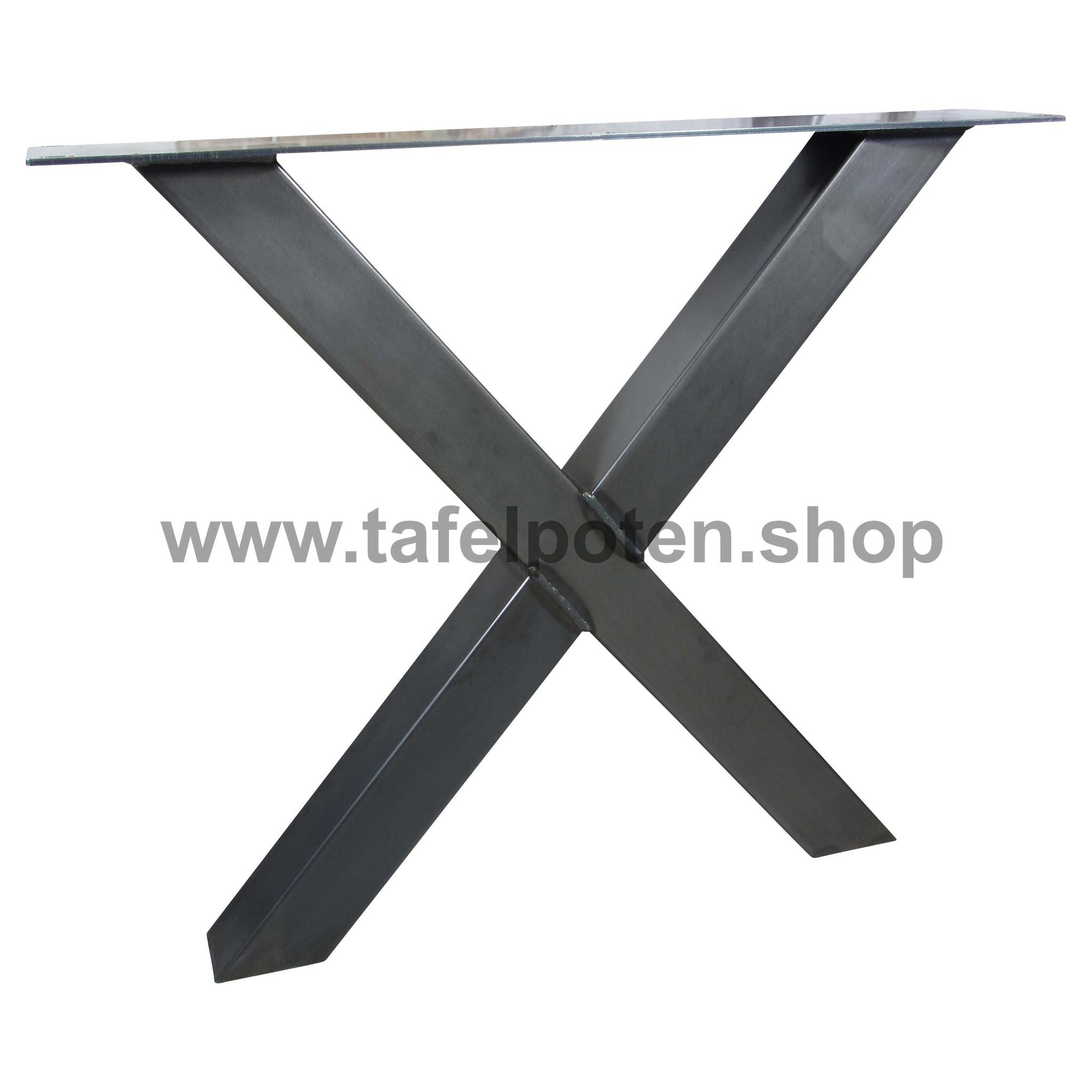 Tafelpoten.shop Deze losse stalen kruispoten zijn perfect voor het maken van uw eigen industriele tafel