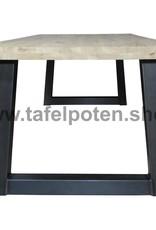 Tafelpoten.shop Tafelpoten in een trapezium model, los verkrijgbaar, echt industrieel