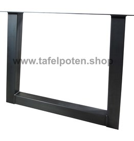 Tafelpoten.shop Industriële trapezium tafelpoot 8x8 cm