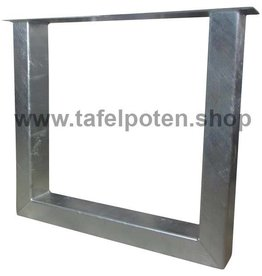 Tafelpoten.shop Verzinkte U tafelpoten 12x8 cm