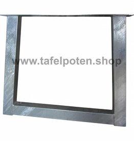 Tafelpoten.shop Verzinkte trapezium tafelpoot 8x8 cm