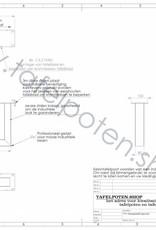 Tafelpoten.shop Witte salon tafelpoten gemaakt uit kokers 8x6, los verkrijbaar