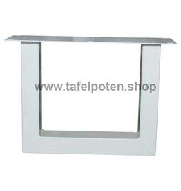 Tafelpoten.shop Witte salon tafelpoten U 8x6 cm