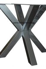 Tafelpoten.shop Verzinkt tafelonderstel Dubbele Kruispoot 8x8 tafelpoot