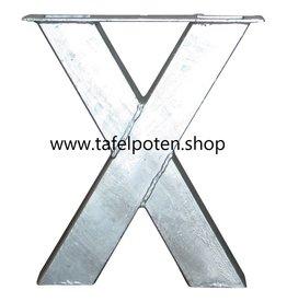 Tafelpoten.shop Verzinkte bankpoot model X