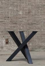 Nordstahl Stalen tafelonderstel twist rond 8x8 cm Nordstahl