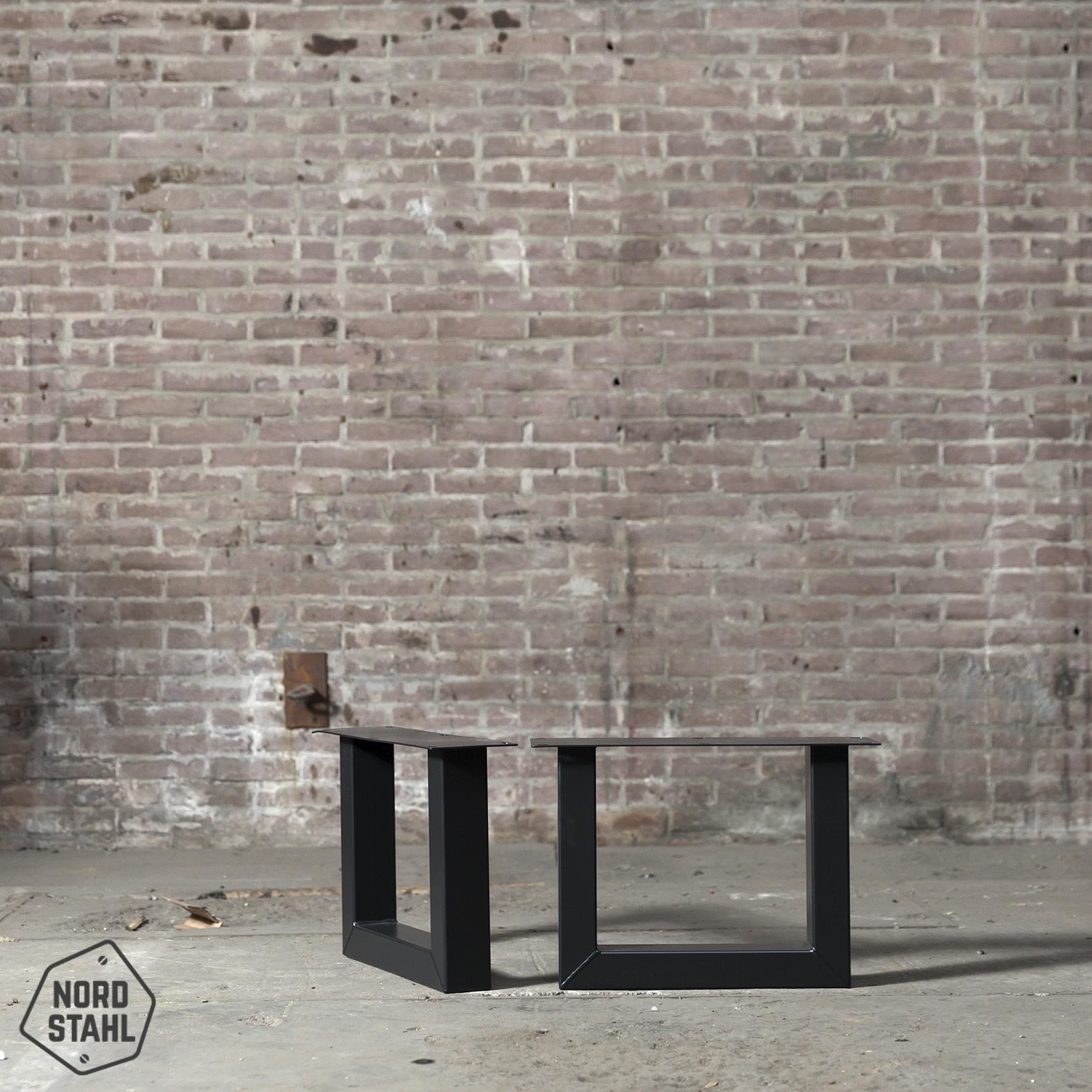 Nordstahl Stoere industriele salon tafelpoten gemaakt uit kokers 8x6, los verkrijbaar