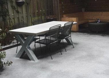 Verzinkte tafelpoten voor buiten