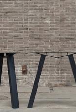 Nordstahl Stalen M tafelpoot zwart gepoedercoat