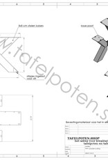 Nordstahl Stoere, stalen salontafelpoot Double X  gemaakt uit kokers 8x8 cm, los verkrijgbaar