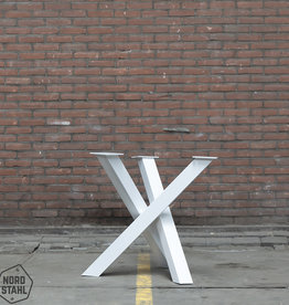 Tafelpoten.shop Witte Twist rond tafelpoot 8x8 cm