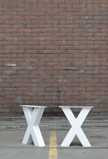 Nordstahl Onze witte stalen eetkamer bankpoten, mooi onder uw eetkamerbank, los verkrijgbaar