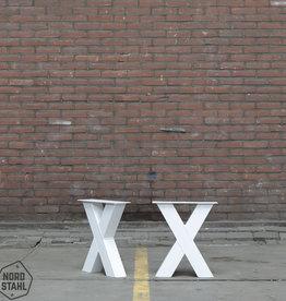 Tafelpoten.shop Witte bankpoot model X