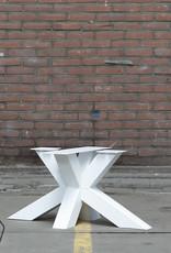 Nordstahl Witte salontafel poot matrix  gemaakt uit kokers 8x8 cm, los verkrijgbaar