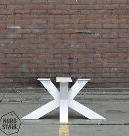 Nordstahl Witte salontafel poot matrix 8x8 cm