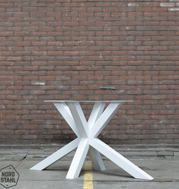 Nordstahl Wit tafelonderstel Matrix 8x8 tafelpoot