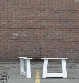 Nordstahl Witte salon tafelpoten trapezium 8x8 cm