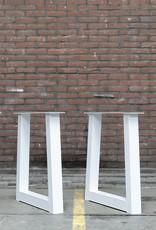 Nordstahl Tafelpoten in een trapezium model, los verkrijgbaar, met witte poedercoating