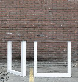 Tafelpoten.shop Witte U tafelpoten 8x6 cm