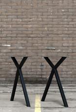 Tafelpoten.shop Stalen tafelonderstel scissor kruispoot