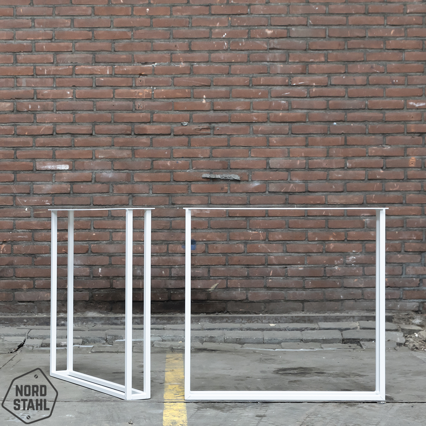 Nordstahl De stalen Twin U tafelpoten geven uw eettafel een echte stijlvolle look