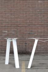 Nordstahl Witte  M tafelpoot wit gepoedercoat